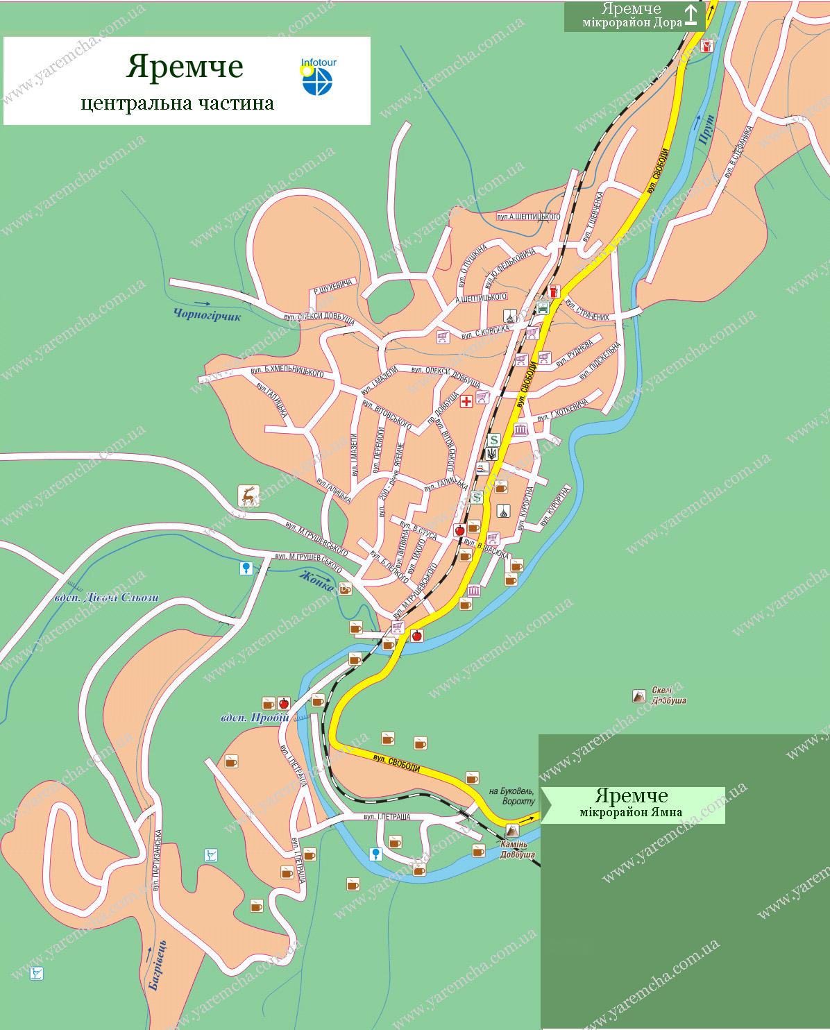 Дотатково карта яремче мікрорайон