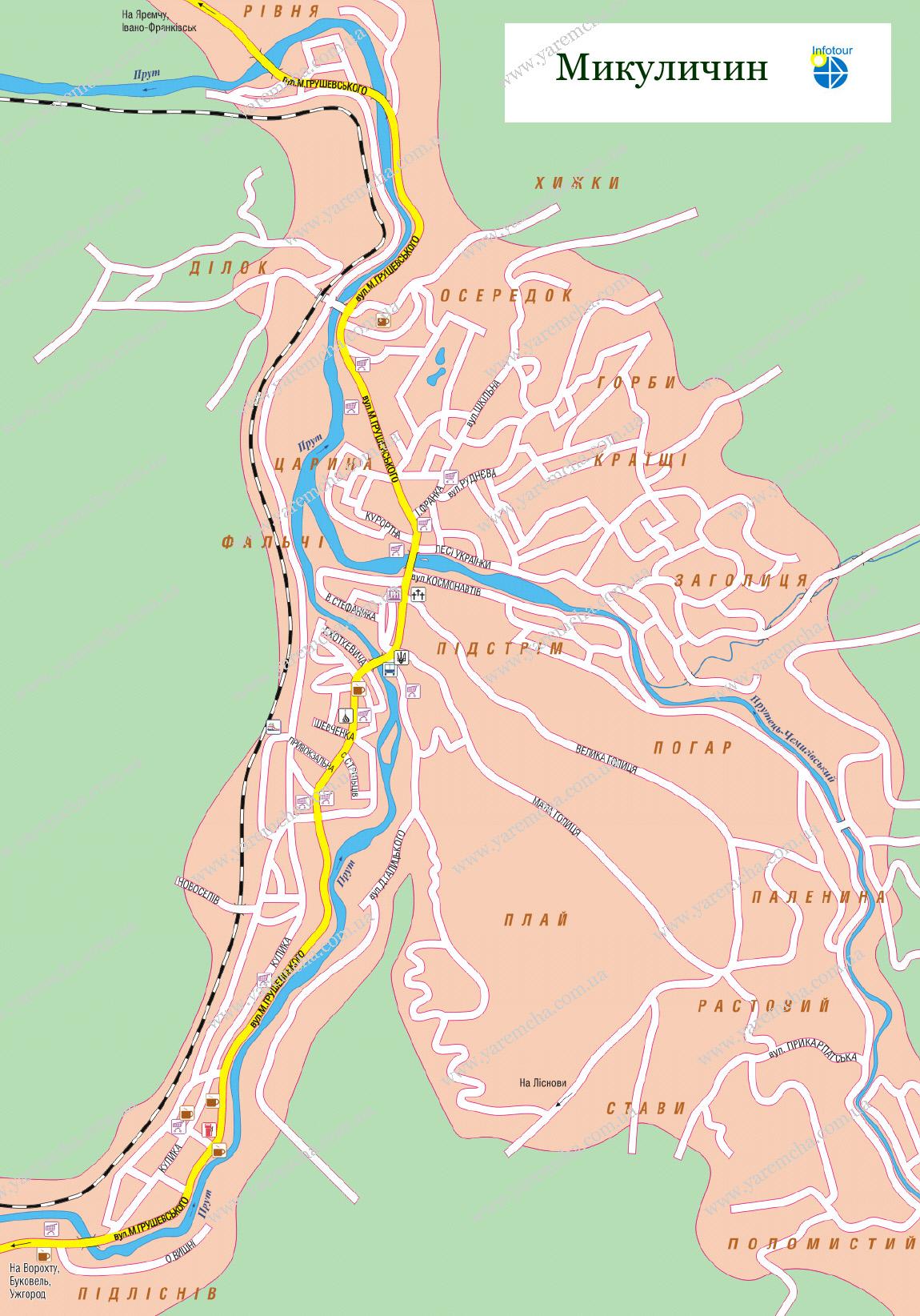 Микуличин карта